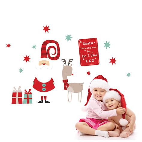 Childrens Large Wall Stickers christmas wall stickers wall art kids
