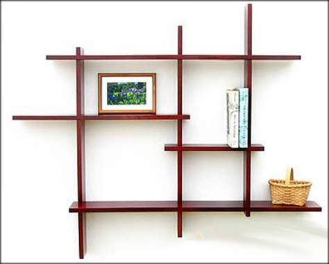 wall mounted bookshelves wood decorative modern wall shelves recycled things