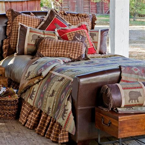 rustic cabin bedding sets heartland rustic comforter sets cabin place