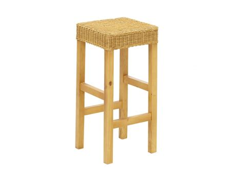 tabouret de bar popat pin massif rotin tress 233 naturel