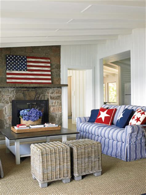 american decor white and blue rooms