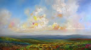 abstract landscape paintings colourful contemporary mountain sky abstract