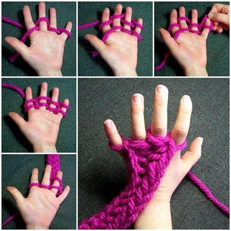 how do you start a knitting project wonderful diy finger weaving
