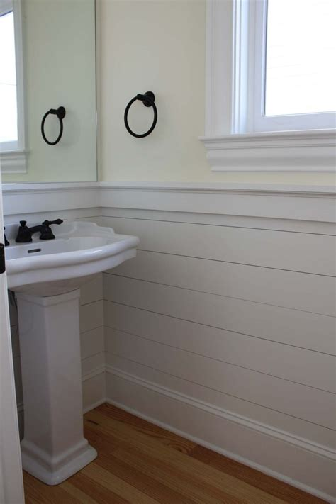 Bathroom Paneling Ideas by Shiplap Wainscoting Panels Plank Walls