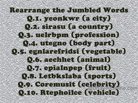 scrabbled words rearrange these jumbled words bhavinionline