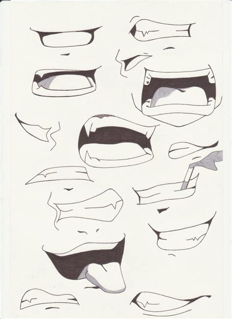 how to draw mouths how to draw anime mouths i by saber xiii
