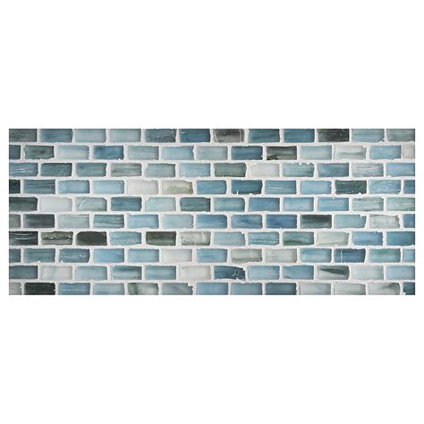 Kitchen Tile Backsplash Pictures zumi glass tile 1 2 quot x 1 quot mini brick mosaic sea spruce