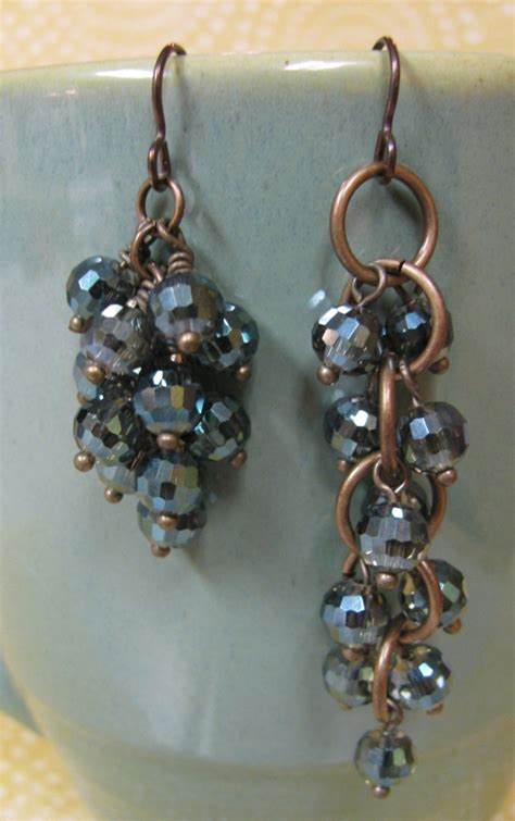 how to make beaded earrings how to make cluster earrings rings and things