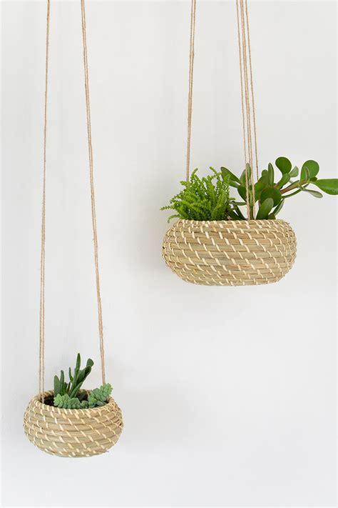 hanging planters diy diy seagrass hanging planters burkatron