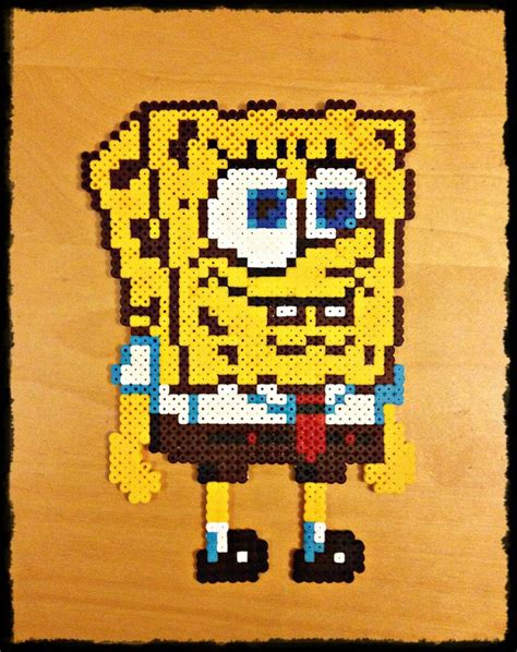 spongebob perler 17 best images about spongebob on o