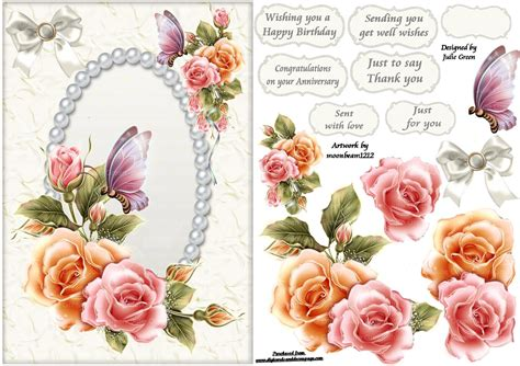 free decoupage sheets to print free printable decoupage card templates search