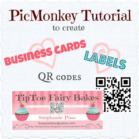 how to make a free business card make your own business cards labels with qr code