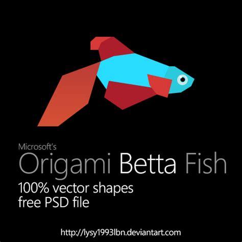 Origami Betta Fish By Lysy1993lbn On Deviantart