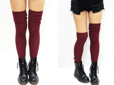 cable knit thigh high socks cozy cable knit thigh high socks boot socks burgundy on