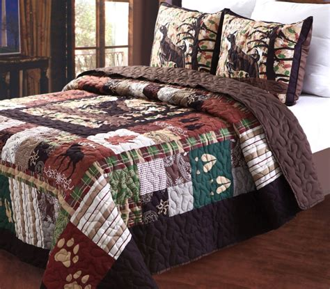 rustic cabin bedding sets total fab rustic lodge log cabin themed bedding sets
