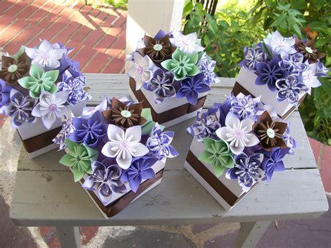 origami centerpieces wedding paper flower centerpieces origami kusudama made by poshstudios