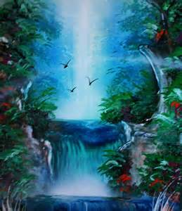 spray painting in painting waterfalls with spray paint spray painting