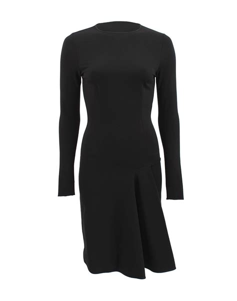 black jersey knit dress stella mccartney sleeve jersey knit dress in black lyst