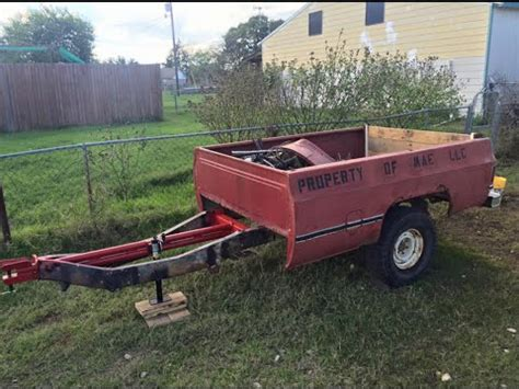 up bed bed trailer build from scrap leftovers