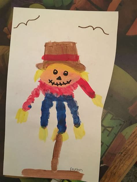 scarecrow craft for scarecrow handprint crafts with