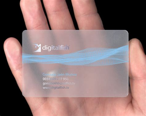 digital card 71 splendid transparent and plastic business cards
