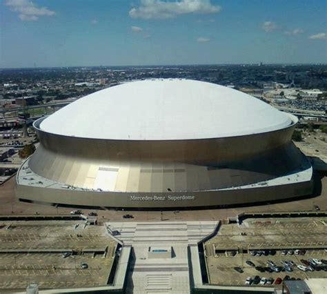 Where Is The Mercedes Superdome by The Mercedes Superdome In New Orleans Louisiana