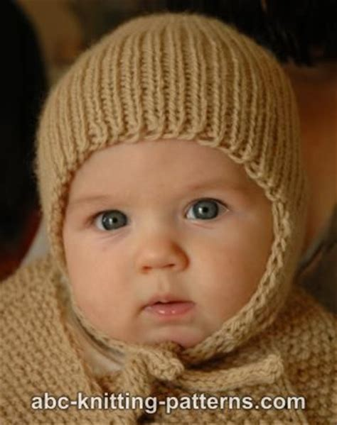 knitting patterns for baby hats with ears abc knitting patterns ribbed baby earflap hat
