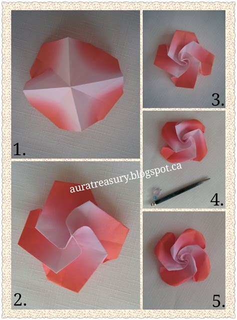 how to do origami flowers aura treasury diy s origami flowers