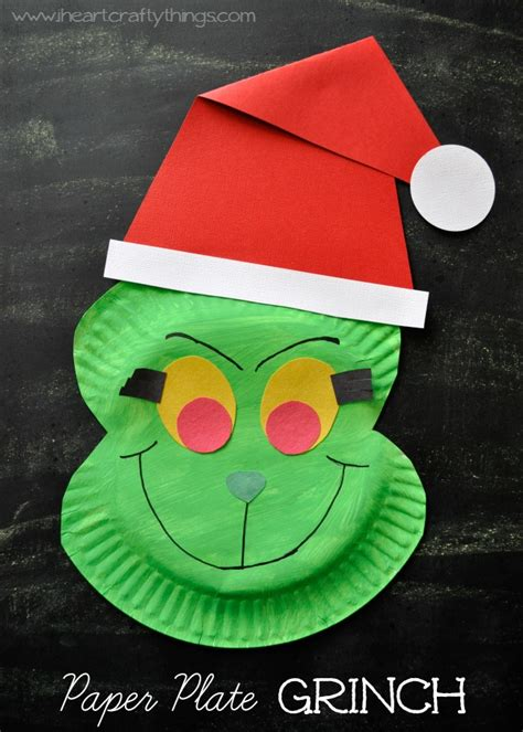 crafts out of paper plates paper plate grinch craft i crafty things
