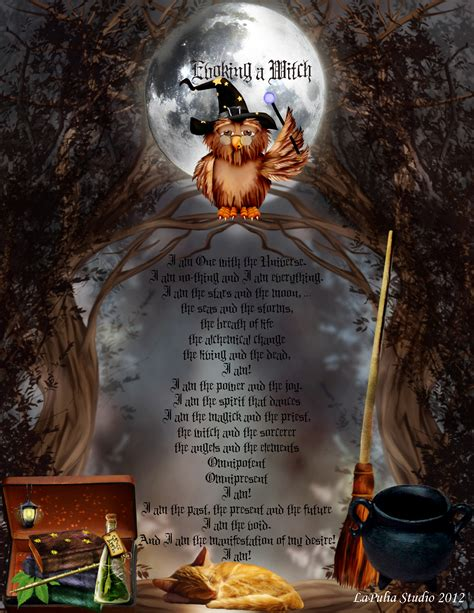 witch craft for evoking a witch magick spell lapulia book of shadows