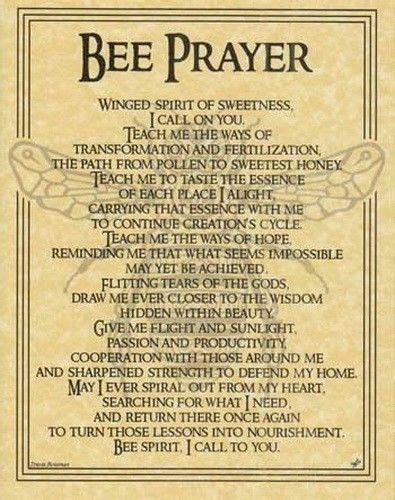wiccan prayer bee prayer poster wicca pagan witch witchcraft