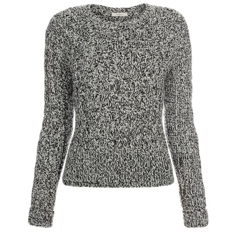 knit sweater womens paul smith s grey chunky twisted cable knit sweater
