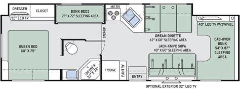 type b motorhome floor plans 2016 four winds 31e bunkhouse class c motorhomes
