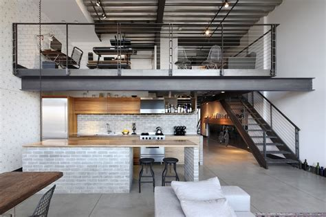 loft industrial industrial loft in seattle functionally blending materials