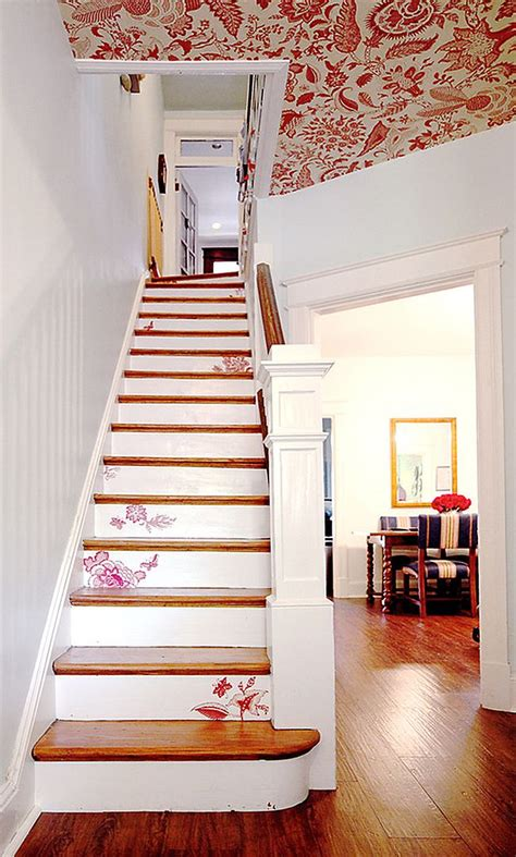 decoupage stairs 11 fabulous staircases that exude shabby chic panache