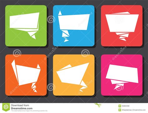 flat origami designs flat design origami speech bubbles royalty free stock