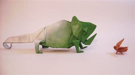 origami chameleon 40 delightful origami designs naldz graphics