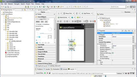 create layout working with layouts android programming