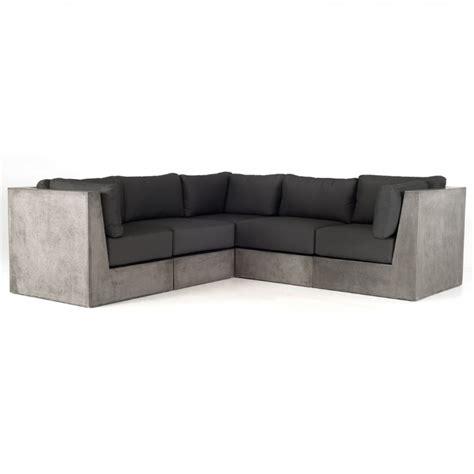 sectional contemporary sofa modrest indigo contemporary grey concrete sectional sofa