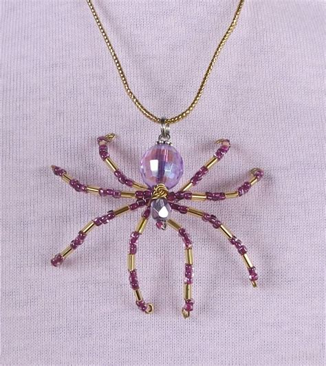 beaded spider beaded spider pendant necklace
