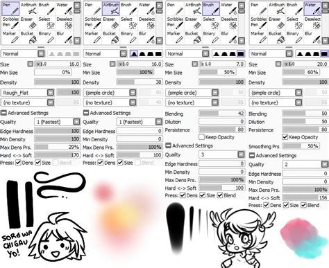 paint tool sai pen tool 199 best images about sai brushes on