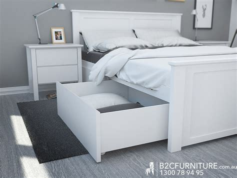 white size bed size beds white storage timber b2c furniture