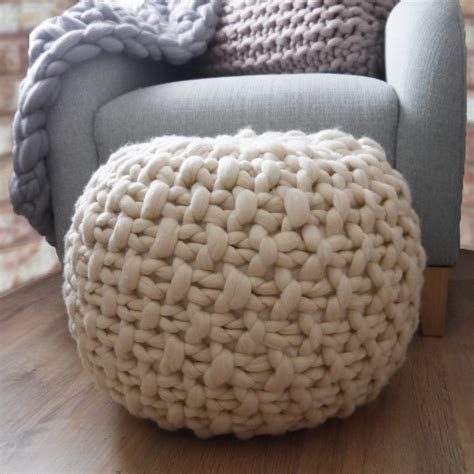 knitted foot stools classic plympton knitted footstool by aston