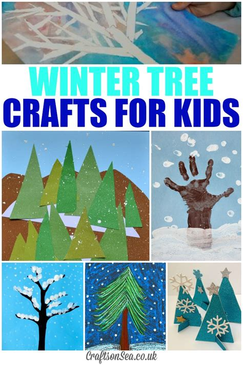seasonal crafts for glittery winter tree crafts for crafts on sea