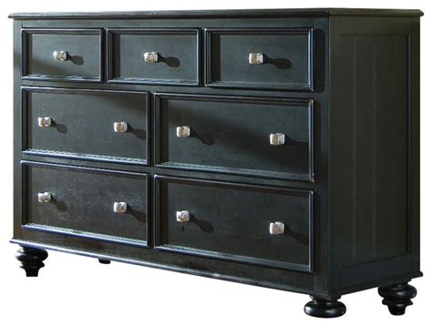 Camden Bedroom Furniture american drew camden dark dresser with round mirror in
