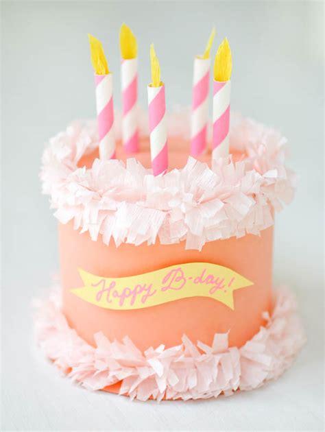 paper birthday cake craft diy paper birthday cake box tutorial for a small gift via
