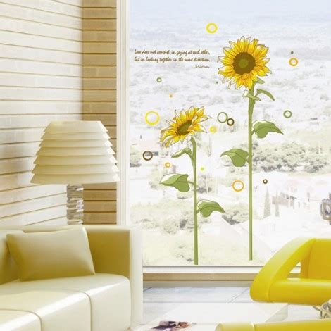 large wall stickers for living room large sunflower wall stickers for living rooms