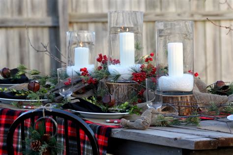 Centerpiece Ideas For Kitchen Table cool christmas centerpieces mode kansas city rustic dining