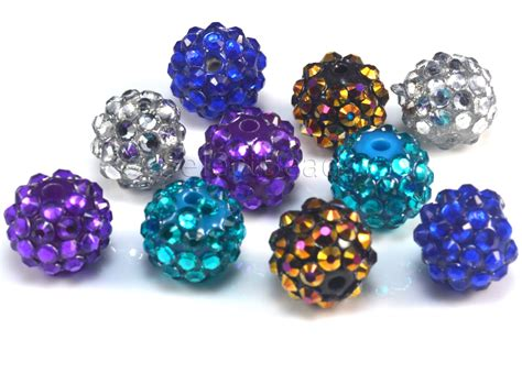 bead wholesaler acrylic and resin rhinestone bead 10 16mm