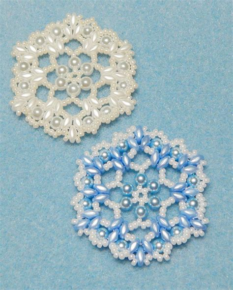 beaded snowflake patterns snowflake 6 beaded ornament pattern